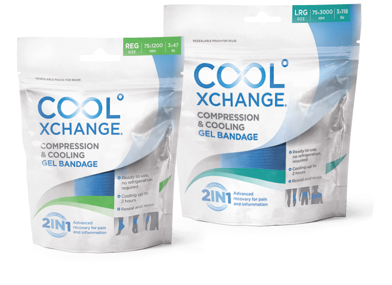 CoolXChange Compression and Cooling Gel Bandages
