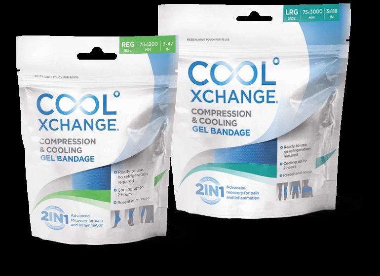 CoolXChange cooling gel bandages