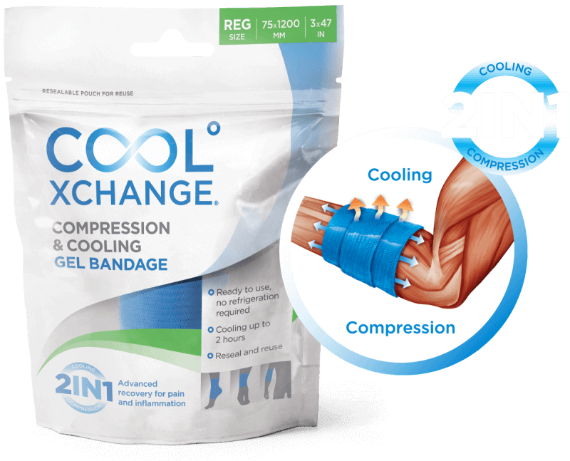 CoolXChange 2-in-1 Cooling & Compression Bandage