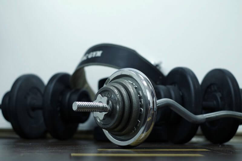 Muscle soreness from weight lifting